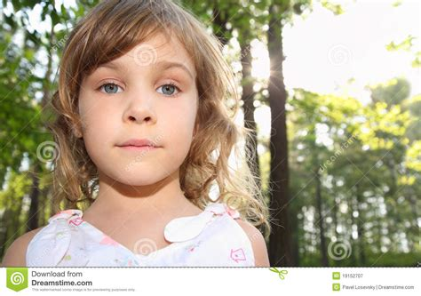 Portrait Of Little Girl With Blonde Hair Royalty Free