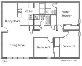 Plain 3 bedroom apartment floor plans on apartments with for 3 bedroom flat plan
