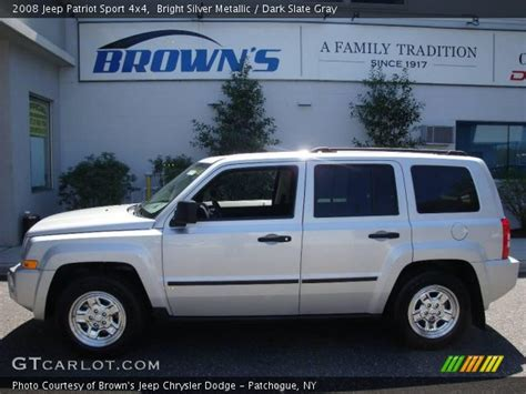 silver jeep patriot interior bright silver metallic 2008 jeep patriot sport 4x4