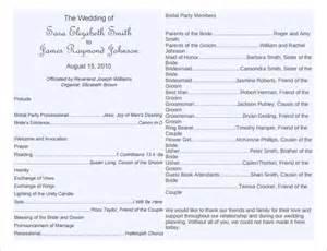 wording for wedding programs wedding program template word cyberuse