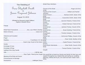 wedding program template 41 free word pdf psd With free wedding brochure templates download