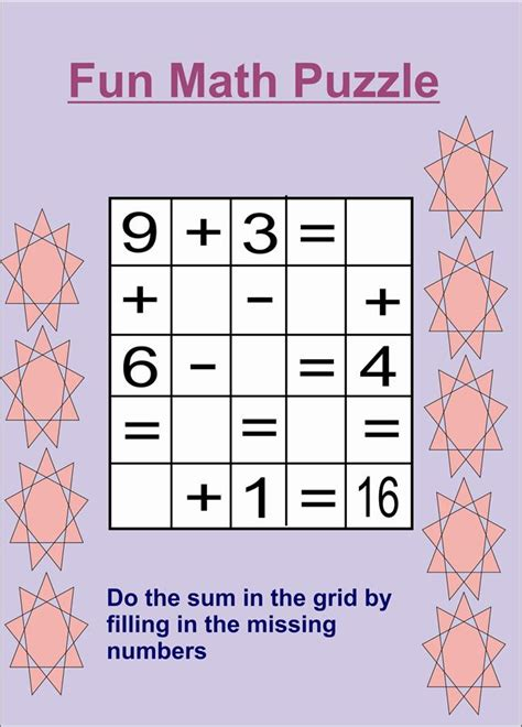 free coloring pages of maths puzzles