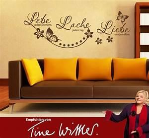 Wandtattoos Von Tine Wittler : wandtattoo leben lachen lieben ~ Sanjose-hotels-ca.com Haus und Dekorationen