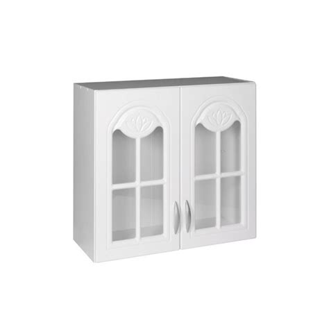 meuble cuisine melamine blanc meuble de cuisine haut portes vitrines cm dina