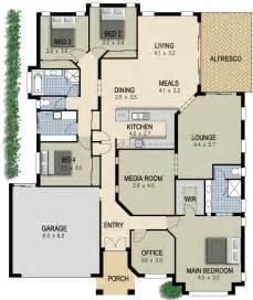 4 bedroom house plan australian house plan 4 bedroom study lounge media room