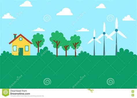 environment friendly design wind energy eco friendly environment stock vector image 73414012
