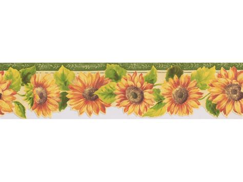 Wallpaper Border by Sunflower Wallpaper Borders Bright Yellow Sunflower