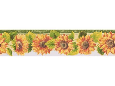 Border Wallpaper by Sunflower Wallpaper Borders Bright Yellow Sunflower