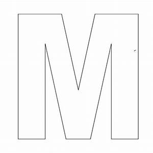 Printable Alphabet Letter M Template! Great for kid crafts ...