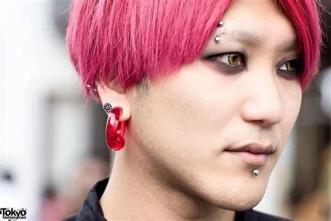 Pink Haired Harajuku Guy In Comme Des Garcons And Chrome Hearts