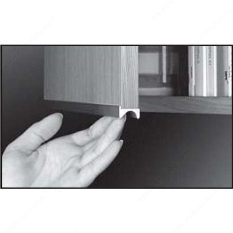 finger pull handles contemporary finger grip pull handle for 5 8 quot panel 3290 3740