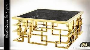 Table Basse Dorée : s rie de 2 tables basses design finition dor e avec plateaux miroirs int rieurs styles ~ Teatrodelosmanantiales.com Idées de Décoration