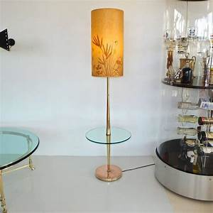 vintage tapered brass floor lamp with integrated glass With vintage brass floor lamp with glass table