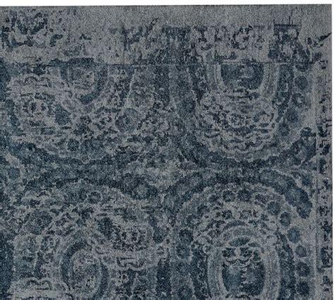 Blue Doormat by Bosworth Printed Wool Rug Blue Pottery Barn