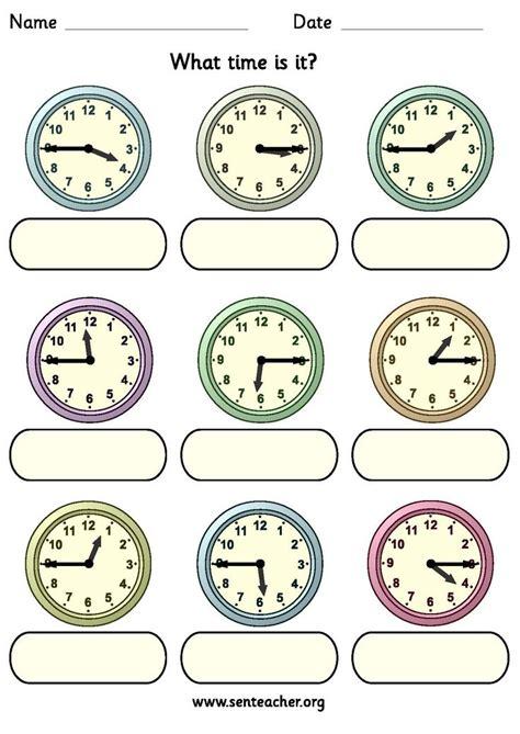 worksheet   analogue clocks showing quarter