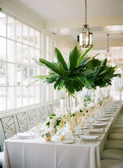 greenery wedding table runners  centerpieces