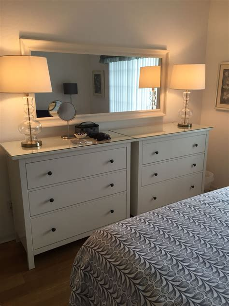 Bedroom Dressers Ikea by Side By Side Ikea Hemnes Dressers For The Guest Room In