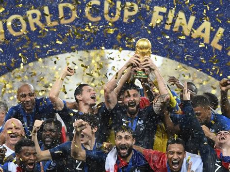 Fifa World Cup France Lift Second After