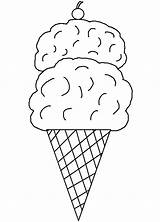 Coloring Ice Cream Pages Printable Cone Sheets Printables Cones Clipart Templates Print Parlor Food Clip Sorvete Colorir Para Desenho Um sketch template