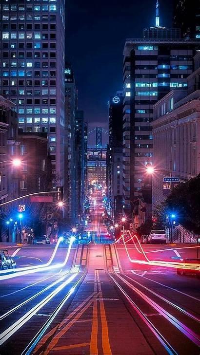 Street Urban Night Wallpapers Iphone Lighting York