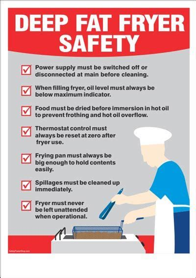 Kitchen Safety Labels by Fryer Safety Labels In 2019 Food Safety Tips
