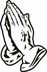 Praying Hands Clip Cliparts Clipart Coloring Sheet Computer Designs sketch template
