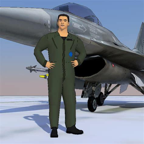 Jet Fighter Pilots 10 3d Model