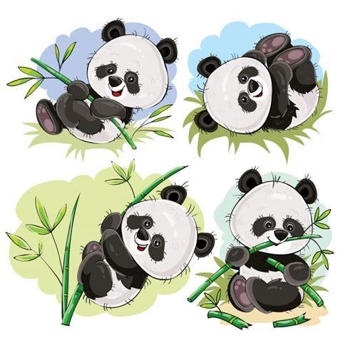 beb 233 panda juguet 243 n con vector de dibujos animados de bamb 250 descargar vectores gratis