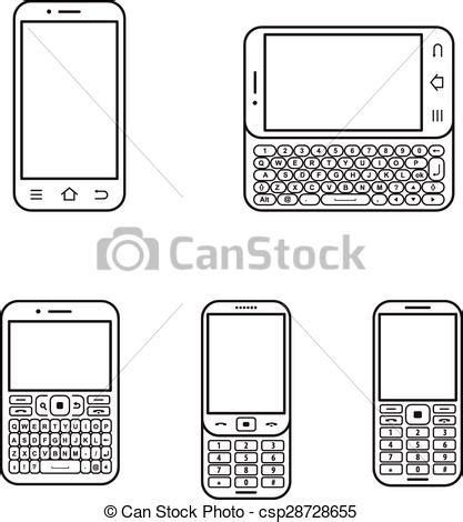 flip phone clipart black and white mobile phone set touchscreen and slider modern mobile