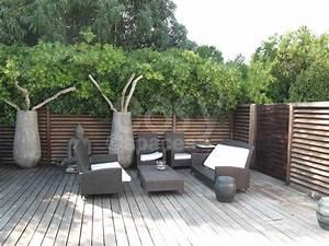 terrasse bois zen With modele de jardin avec galets 1 terrasse bois exotique jardin zen et fontaine youtube