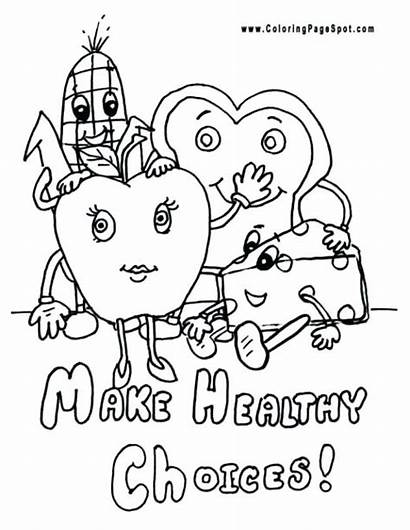 Coloring Healthy Pages Health Eating Protein Habits
