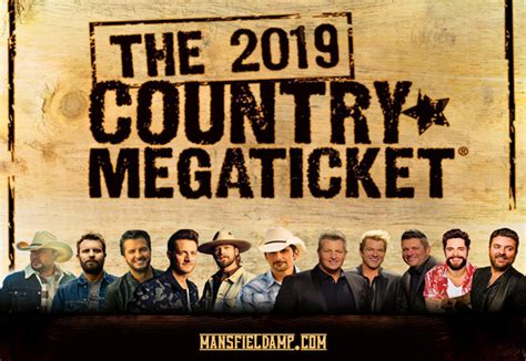 2019 Country Megaticket Tickets Includes All Performances