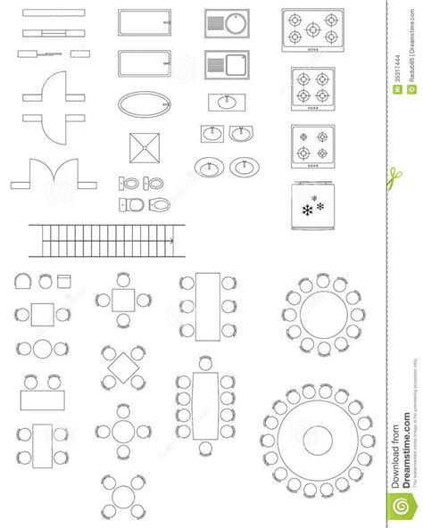 Standard Symbols Used In Architecture Plans - Download