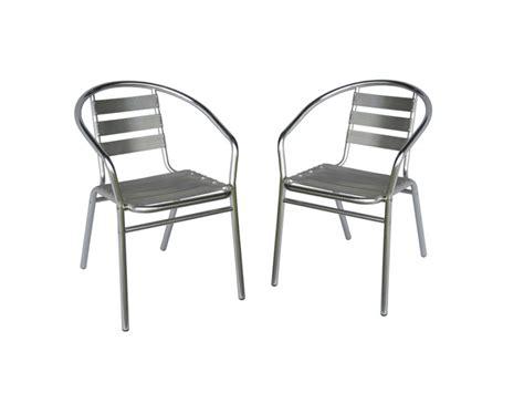 lot de 2 chaises de jardin en aluminium montmartre