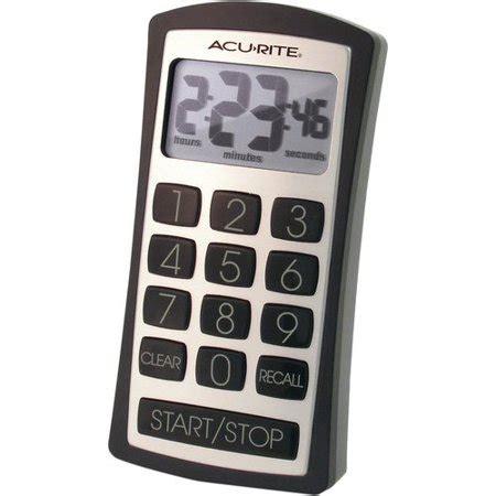 kitchen timer walmart acurite digital timer with keypad 00535w walmart
