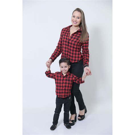 Camisas Xadrez Flanela Mãe e Filho
