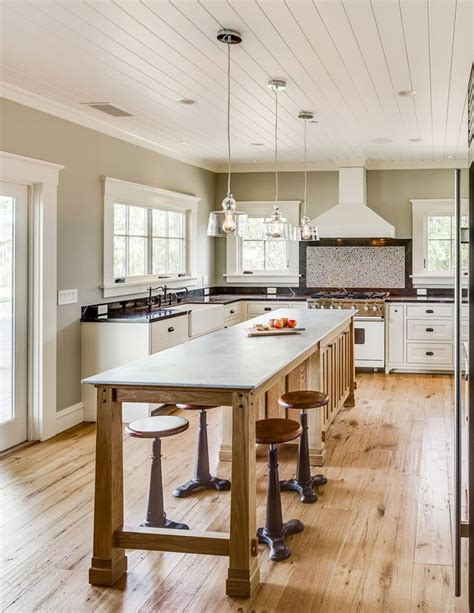kitchen island narrow weekend residence by bevan associates interior