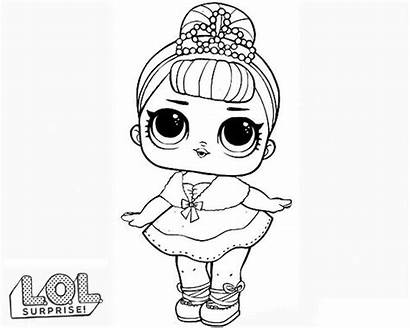 Lol Coloring Dolls Doll Pages Surprise Printable