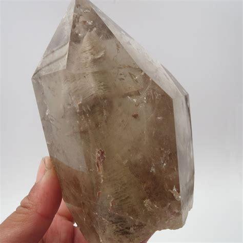 aaa natural grey phantom rutilate smoky quartz