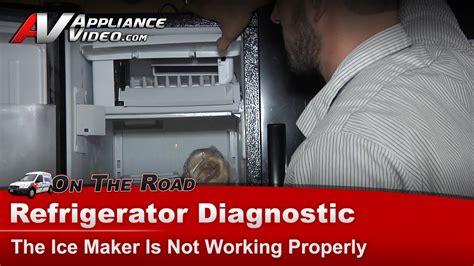 refrigerator diagnostic ice maker  working properly whirlpool edfhaxbv youtube