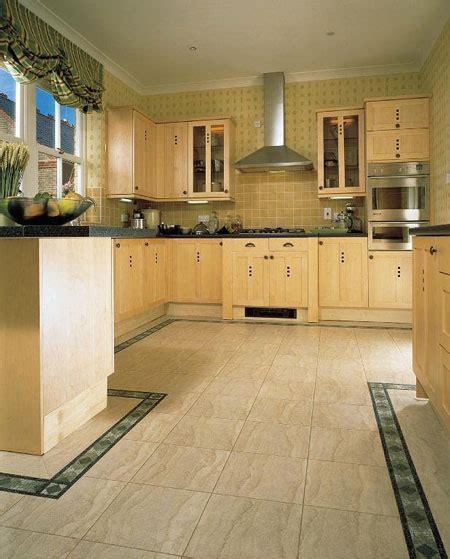 Kitchen Borders Ideas - kitchens flooring idea sd14 sedimentary sandstone light with b29b medici border by amtico