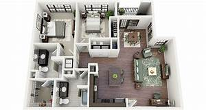 19 awesome 3d apartment plans with two bedrooms part 1 With awesome faire plan maison 3d 1 cinematique maison moderne minecraft project