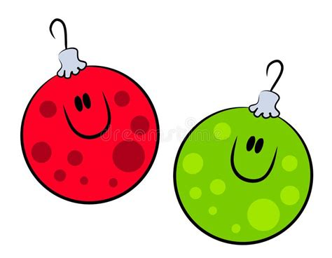Cartoon Smiling Xmas Ornaments Picture