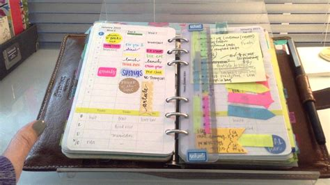 January 2015 Daily Planning System Part 1 (filofax) Youtube