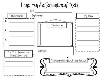 responding  nonfiction  informational   ks