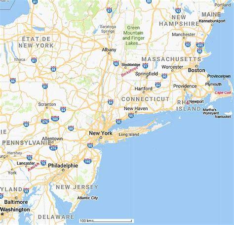 Carte et plans du nord est des USA
