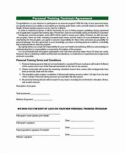 training agreement contract sample 16 examples in word pdf With personal trainer contract templates