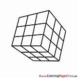 Cube Printable Colouring Rubik Coloring Sheet Title Pages Rubiks sketch template