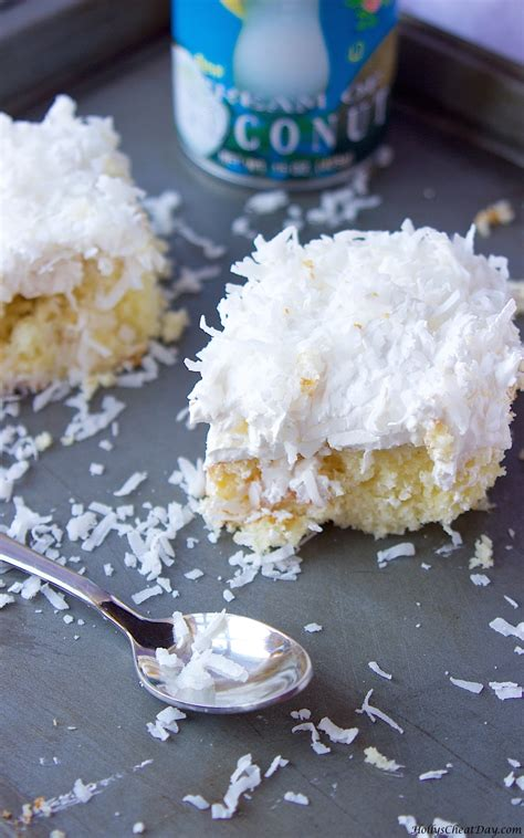 easy coconut cake hollys cheat day