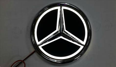 Please read our terms of use. Newest 5D LED logo Light badge for Mercedes Benz white blue or red color   eBay